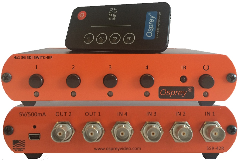 OSPREY SSR-42R - Reclocking 4:1 Switcher with Remote