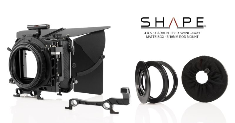 SHAPE 4 X 5.6 Carbon Fiver Swing-Away Matte Box 15mm/19mm Rod Mount