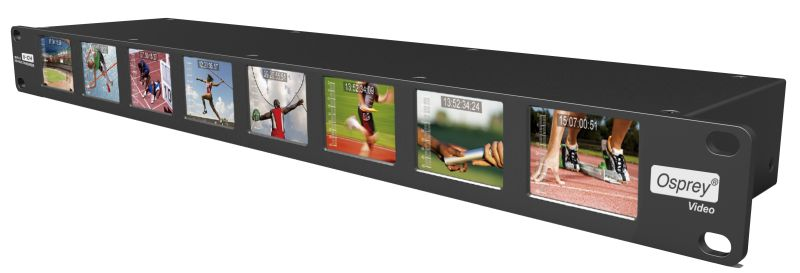 "OSPREY MVS-8 Multiviewer 3G SDI with 8x 2"" LCD 19"" 1RU"