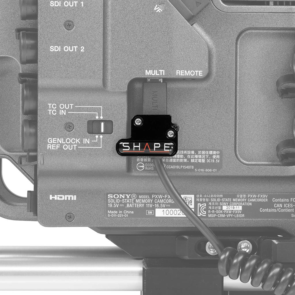 SCCRH SHAPE Klemme für die Sony FX9 remote handle